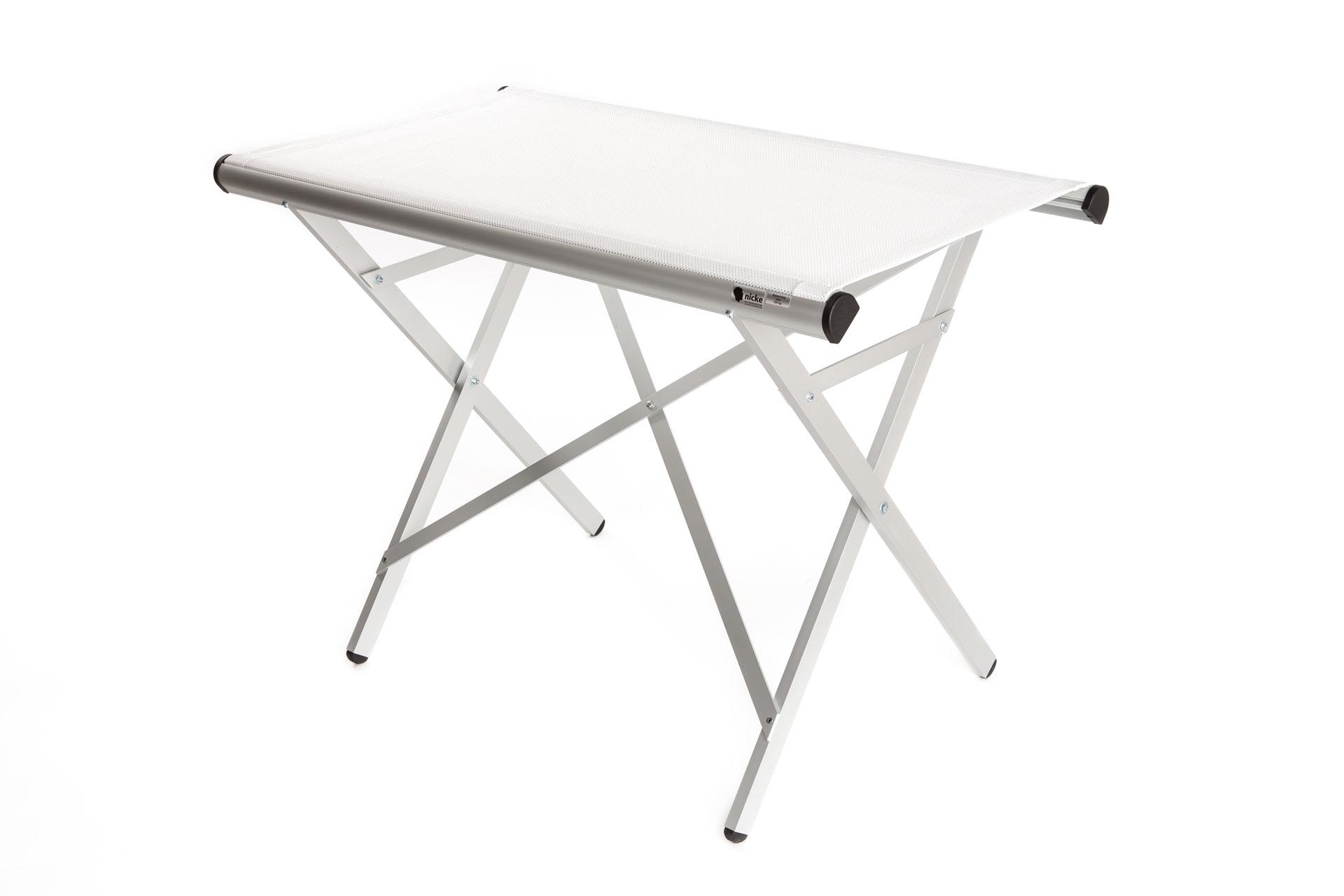 Fristående Skötbord Med Vit Duk